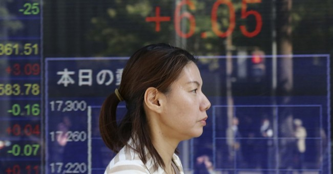 Global stocks up on strong Japanese, European data